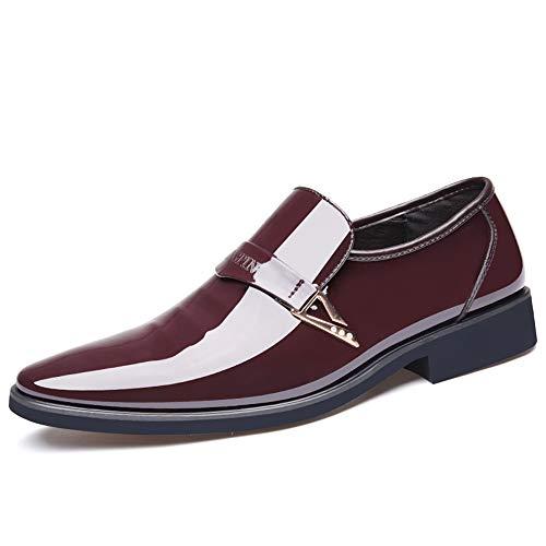 Oxford Business De Marrón Para Cuero Formales top Transpirables Hombres Lentejuelas Casual Metálicas Low Zapatos Xw6nxTdw