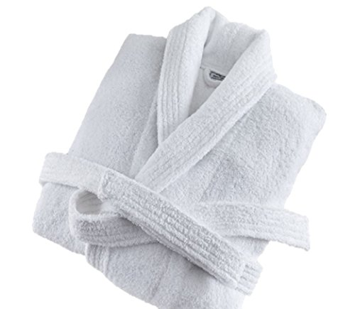 Deluxe Luxury Cotton White Bathrobe