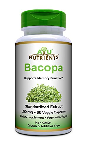 Bacopa Extract - Organic Bacopa Extract 650 mg (60% Bacopa Saponins (Bacosides A & B) - 362.2 mg) Highest Potency and Purity on the Market - 60 Veg Capsules for Memory Support