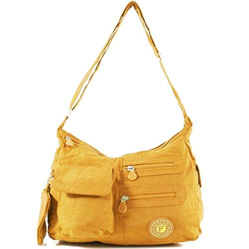 Tote Handbag Messenger Ladies Satchel Yellow Cross Shoulder Pockets Body Women Multi UK Bag YDezire zHPwTP