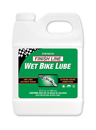 Finish Line WET Bicycle Chain Lube, 32-Ounce Quart Jug