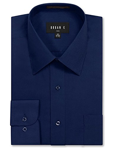 [URBAN K Men's Big and Tall Long Sleeve Dress Shirt] (Big And Tall Formal Wear)
