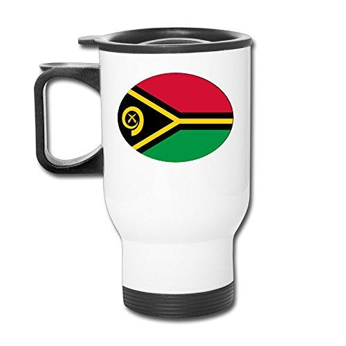 Custom Flag Of Vanuatu. Round Handy Travel Mugs Gift By Katiydry