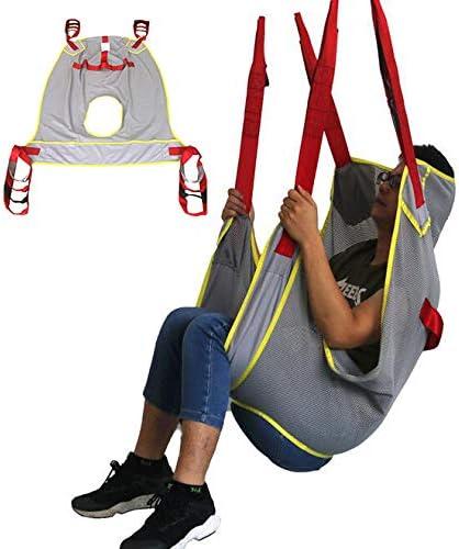 D&F Ganzkörper-Patientenlifter Sling Treppenrutsche Transfergurt,aus Netzgewebe mit Toilettenschlinge Design mit geteiltem Bein,Für Krankenpflege,ältere Menschen,Behinderte