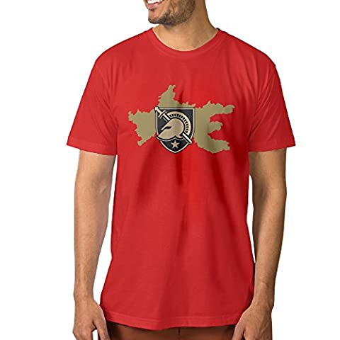 XJBD Men's Army West Point Rep Your Team Attractive Tee Red Size XXL (Of Mice And Men Robert Blake)