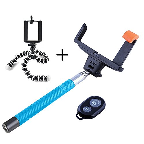 Take-Pole Monopod with Remote Shutter Set of 2 (Blue) - 2