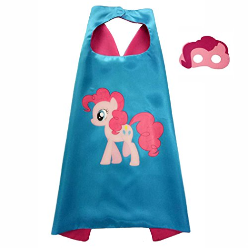 My Little Pony Costume For Boys (Pinkie Pie My Little Pony Costume Superhero Capes with Masks for Kids, Girls Birthdays Party Favors, Dress Up & More)