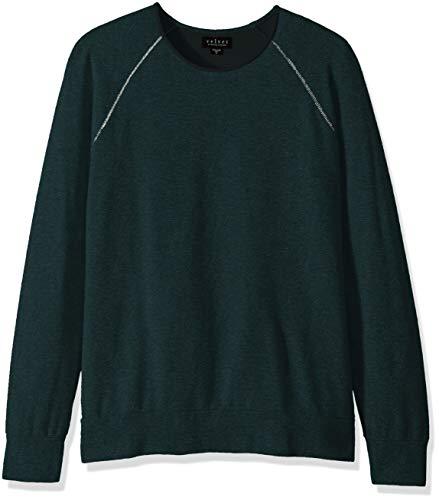 Velvet by Graham & Spencer Men's Ovid Raglan Sweatshirt in Luxe Fleece Fabric Parakeet Small ()