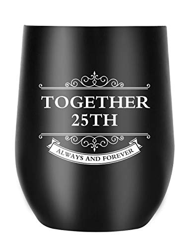 25th Anniversary Gifts for Men Women Couple, Together Always and Forever, Personalized Gifts for Parents (25th Anniversary)