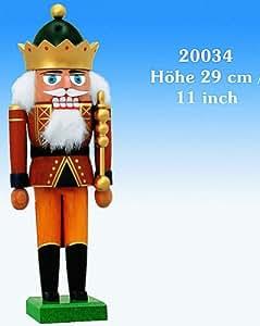 Cascanueces Rey con la corona - 29 cm / 11 pulgadas - KWO