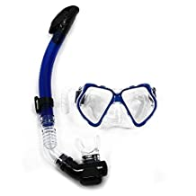 SODIAL(R) Dive Diving Mask Goggles Dry Snorkel Combo Set Swimming Scuba Snorkeling Gear