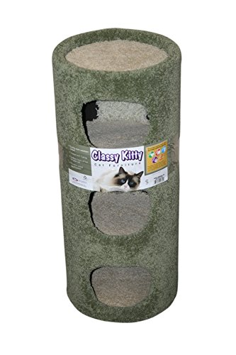 CLASSY KITTY 3-Story Cat Condo, 30 , Natural