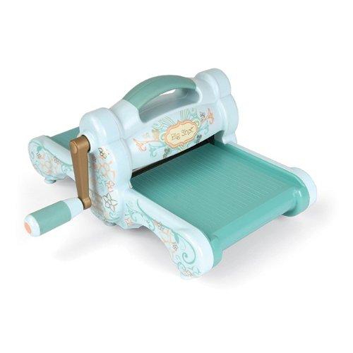(Sizzix 657900 Big Shot Cutting/Embossing Machine with Extended Multipurpose Platform, Powder Blue/Teal)