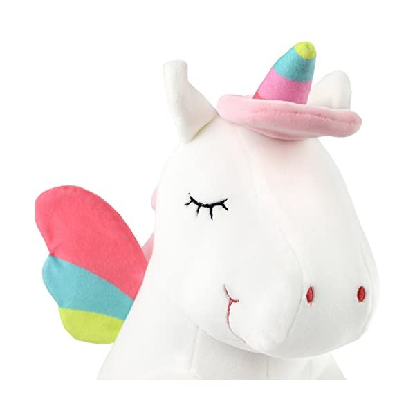 Athoinsu 13 inch Pink Plush Stuffed Fluffy Unicorn Animal Toy Ideal Gift Birthday Present for Girls Aged 3-10 Years Old or As Valentine's Gift for Lovers 7