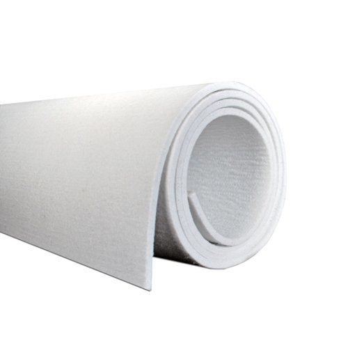 WHITE POLYESTER 2846 GR/SQ. M, 72 IN WIDE X 5/16 IN THICK X 5 YD LONG