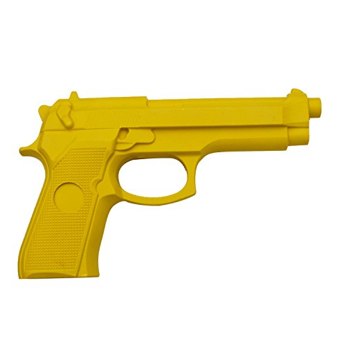 Yellow Rubber Training Gun Police Dummy Non Firing Realistic Design