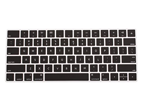 COOSKIN Silicone Colorful Keyboard Cover Protector Skin for Apple Magic Keyboard (MLA22LL/A), After 2015 November US Layout (Black)