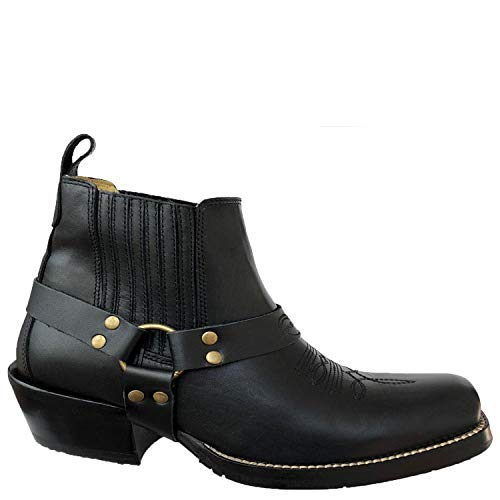 Brunello's Silverado Men's Western Boot with Square Toe- Low Cut in Napa Black ()