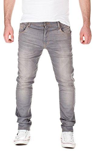 Yazubi Herren Sweathose in Jeansoptik - Jogginghose in Jeans-Look, grey used (10060), W33/L34