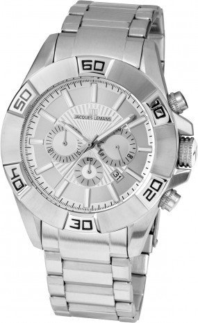 Jacques Lemans Liverpool 1-1808F - Men's Watch, Watch Band Stainless Steel Silver Tone