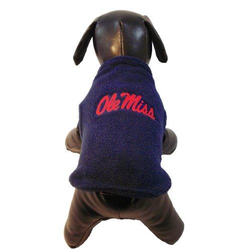 NCAA Ole Miss Rebels Polar Fleece Dog Sweatshirt, Small