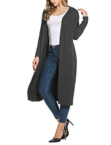 Longue Gilet Haut Casual Long Cardigan Femme Ouvert Uni Manche Meaneor fq7wBv