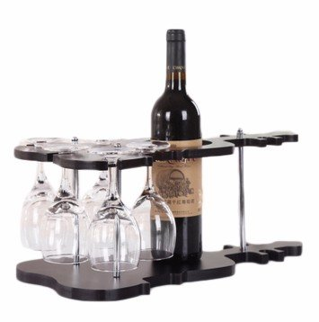 Estante Vino Vidrio Estanteria Para Envases Vidrio Estante Decoración Madera Clásico Madera Oscuro
