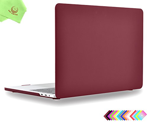MacBook Pro 13 inch Case 2018 & 2017 & 2016 Release, Model A1989/A1706/A1708, UESWILL Matte Hard Case Cover for MacBook Pro 13 inch (USB-C) with/Without Touch Bar Touch ID, Wine Red