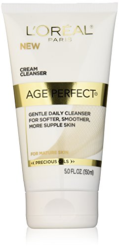 Daily Replenishing Cream (L'Oréal Paris Age Perfect Nourishing Cream Face Wash for Gentle Daily Cleansing, 5 fl. oz.)