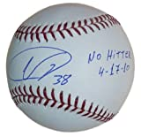 Ubaldo Jimenez Autographed Colorado Rockies MLB Baseball w/No Hitter Insc