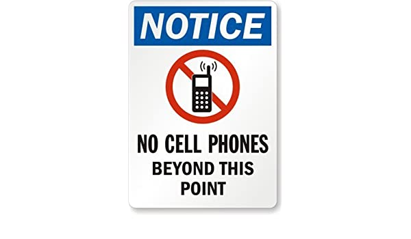 photograph regarding No Cellphone Sign Printable identified as Awareness - No Cellular Telephones Outside of This Place (with No Cellular