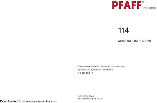 PFAFF Download pdf-File 114 Manual de Instrucciones máquinas de ...