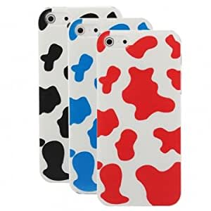 Dairy Cow Skin Pattern Plastic Case Cover For iPhone 5 5G --- Color:Red