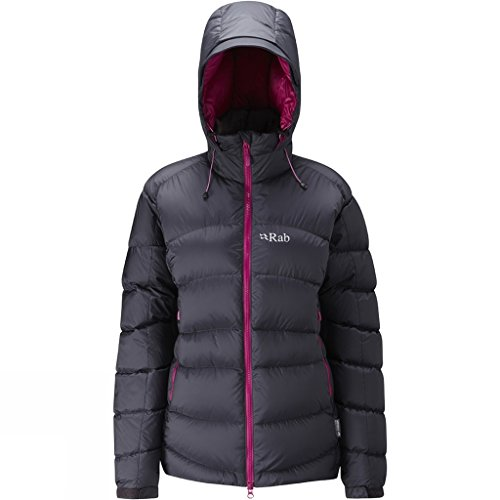RAB Ascent Jacket - Women's, Beluga/Peony, Small, QDE-61-BE-10