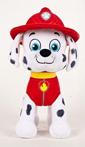 Patrulla canina (PAW PATROL) - Peluche personaje Marshall, Dalmata bombero (42cm de pie) Calidad super soft - Color Rojo-: Amazon.es: Juguetes y juegos