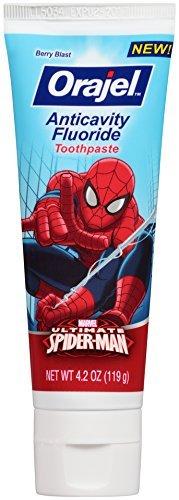 Orajel Spider-Man Anticavity Fluoride Toothpaste, Berry Blast, 4.2 Oz by Orajel