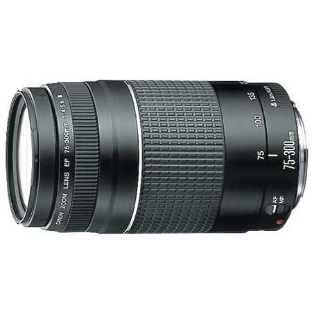 Canon Camera EF 75 300 mm f/4 5.6 III Telephoto Zoom Lens DSLR Camera Lenses