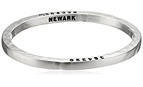 Caliber Collection Newark Steel Bangle with Diamond, Medium