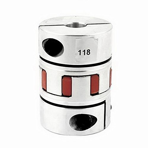 Motor 15mm x 15mm Flexible Stepper Motor Plum Coupling D55L78 Aluminum Alloy By Fuxell
