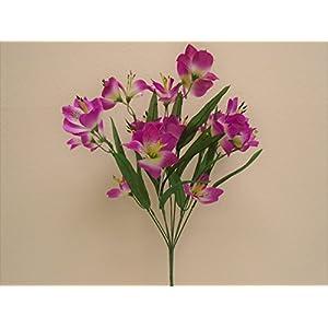 "Phoenix Silk Alstroemeria Bush Artificial Silk Flowers 20"" Bouquet 10-5326 36"