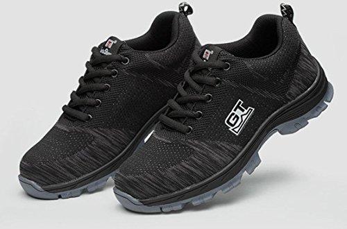 LIDUN Unisex Breathable Steel Toe Shoes Men Steel Toe Boots Womem Steel Toe Sneakers (US Men 9, LD01) by LIDUN (Image #1)