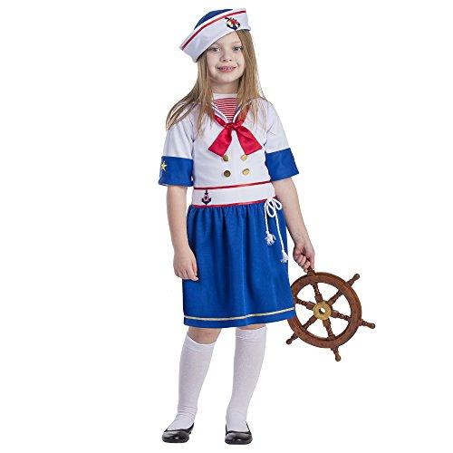 Sailor Girl Costume - Size Toddler 2 (Captain America Toddler Girl Costume)