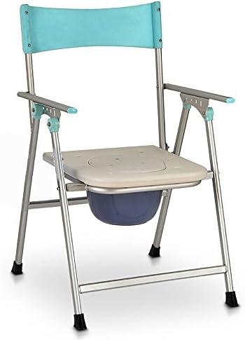 Cqq Badestuhl Aluminiumlegierungs-ältere Nachttisch-Toilette/Schwangere Frauen-Bad-Stuhl- / Multifunktionsstuhl- / Schemel-zusammenklappbare bewegliche höhenverstellbare Toilette