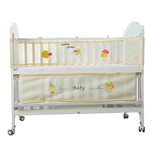 Black Toile Crib - Weiliru Breathable Crib Bumper Grey Mesh Crib Bumper for Full-Size Crib Breathable Mesh Crib Cover Guard