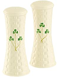 PickUp Belleek Group 1320 Shamrock 6.5-Inch Salt and Pepper Shaker, Large, White opportunity