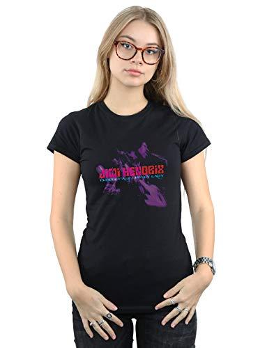 Absolute Cult Jimi Hendrix Women's Purple Haze Foxy Lady T-Shirt Black - T-shirt Hendrix Ladies Jimi