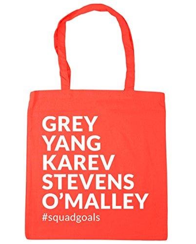 Yang Grey O'Malley Shopping Karev Bag Beach squadgoals HippoWarehouse 10 x38cm Coral Tote Stevens litres 42cm Gym 5dIUxqTwn