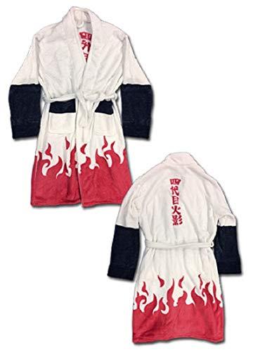 - Naruto Shippuden - 4th Hokage Costume Fleece Bathrobe White