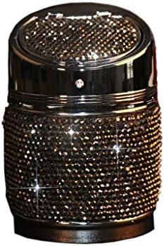 灰皿 , ダイヤモンド車の灰皿、創造的な金属製の灰皿の完全な多機能ユニバーサルホームカー (色 : 黒)