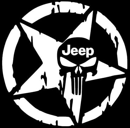 amazon star jeep punisher skull decal vinyl sticker wrangler 1963 Corvette Custom Interior image unavailable